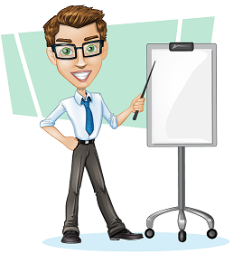 Vector Businessman with Chart